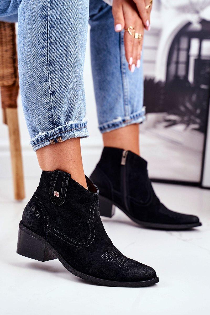 Dámske čierne členkové topánky - 37