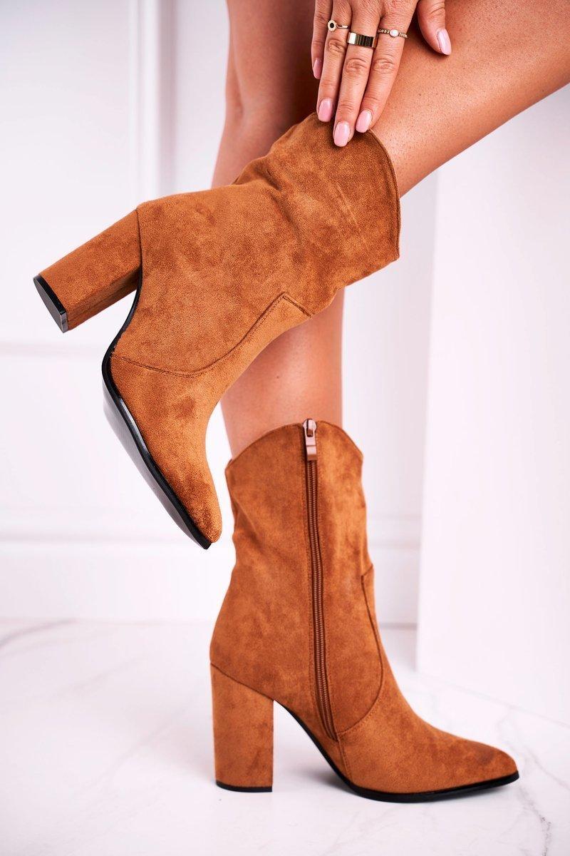 Hnedé semišové zateplené topánky - 39