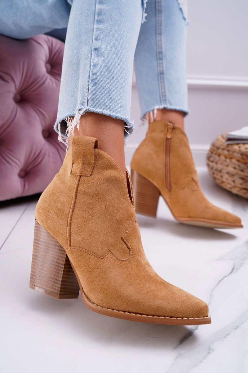 Hnedé členkové topánky so zipsom - 40