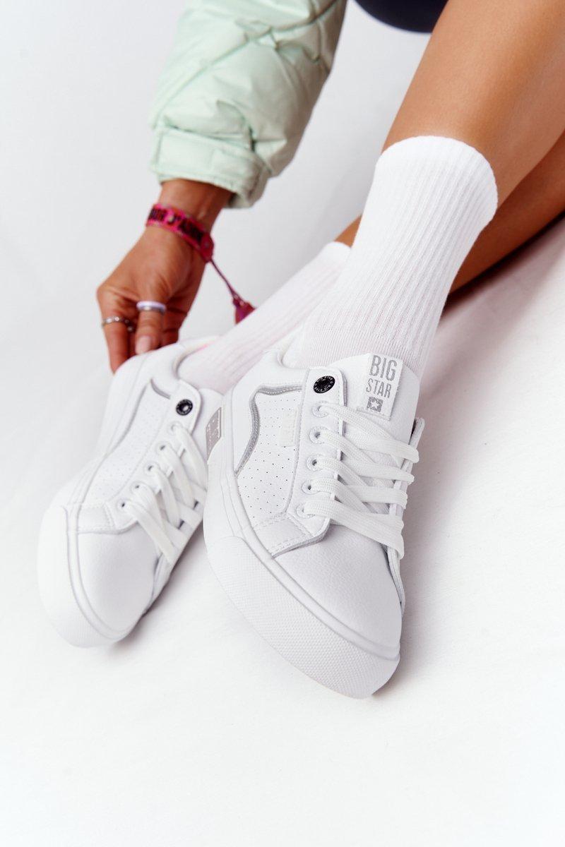 Biele kožené tenisky - 41