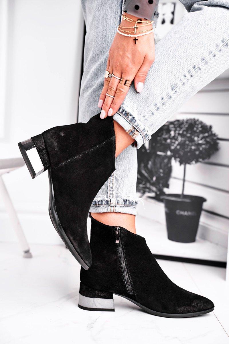 Dámske čierne zateplené topánky - 40