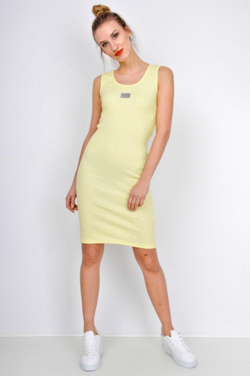 Dámske žlté krátke šaty bez rukávov - ROUZIT.SK defd3a00083