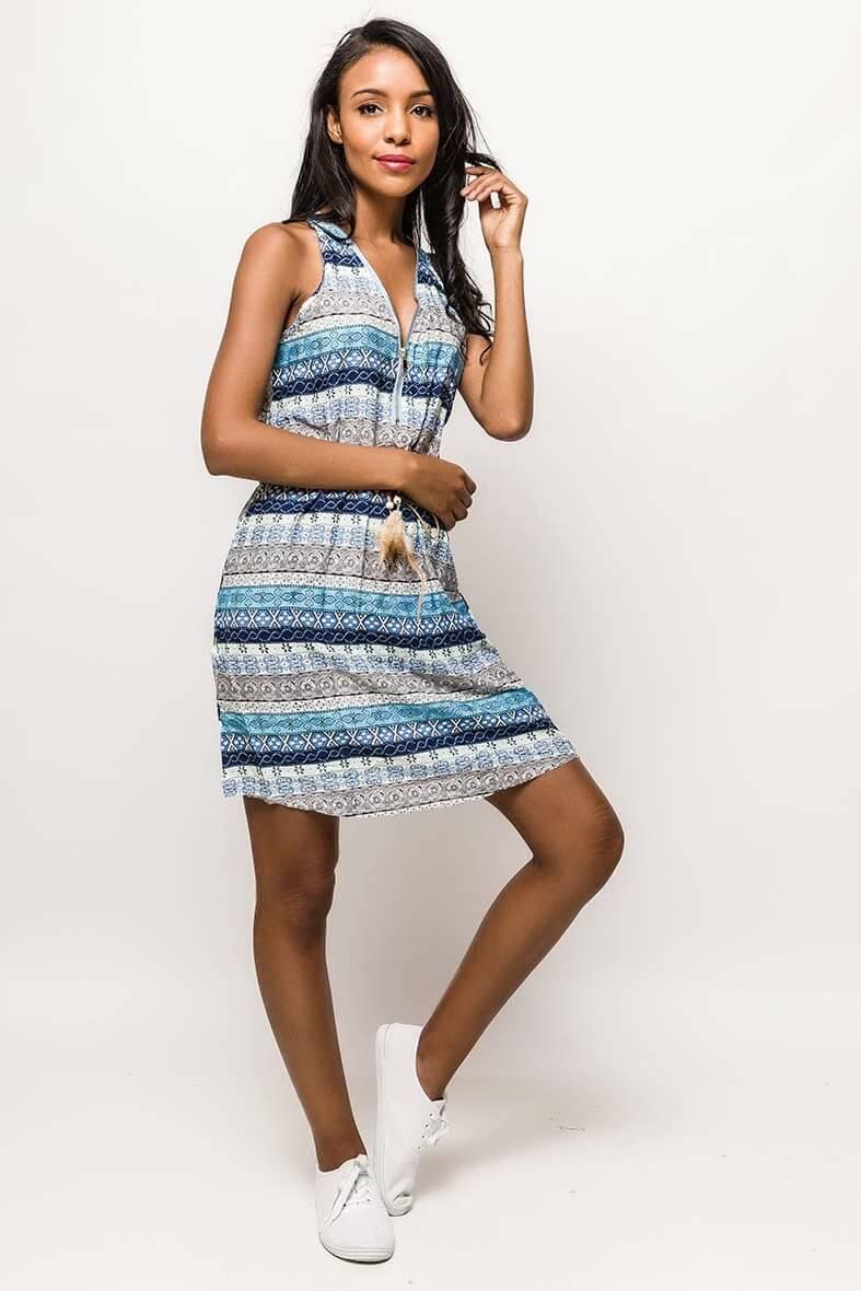 Letné modré vzorované šaty - ROUZIT.SK 605fdb85ae5