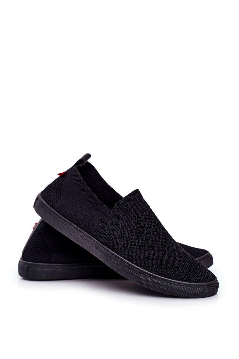 Pohodlné dámske tenisky v čiernej farbe - 38