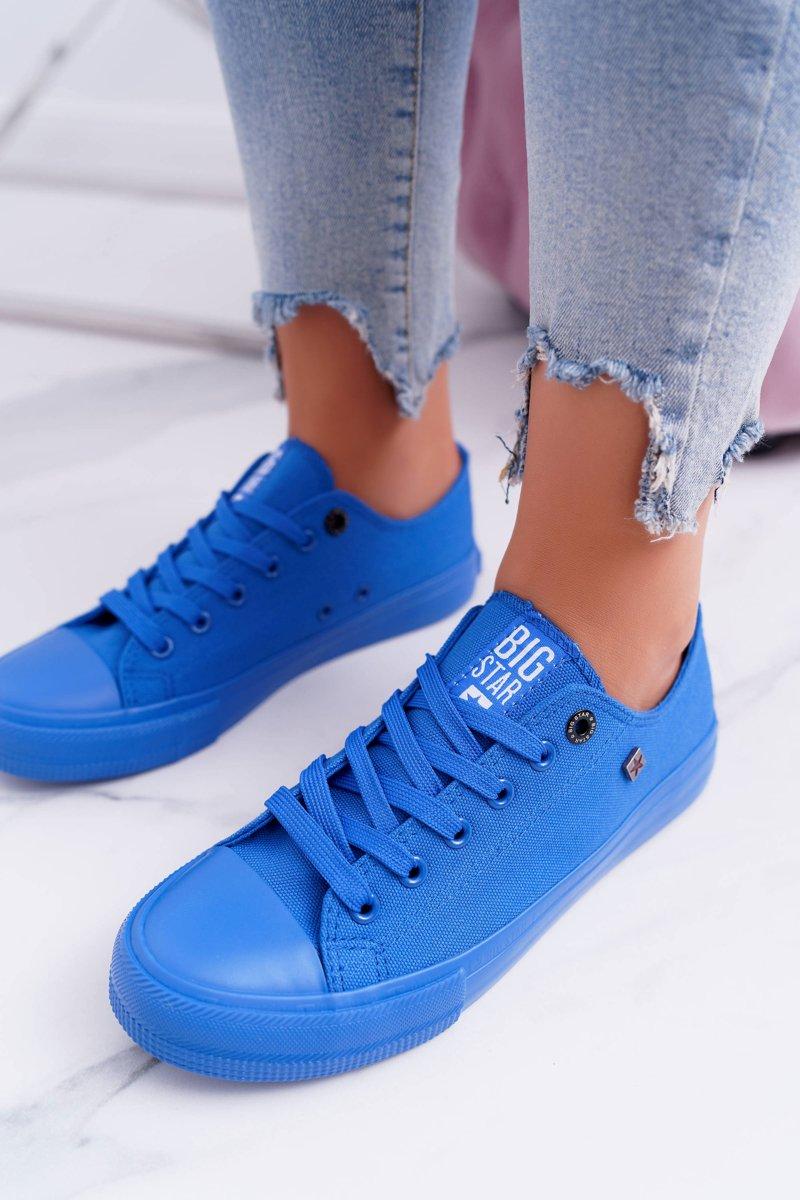 Dámske pohodlné tenisky v modrej farbe - 37