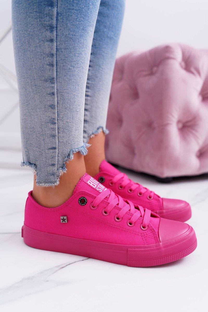Pohodlné dámske tenisky v ružovej farbe - 37