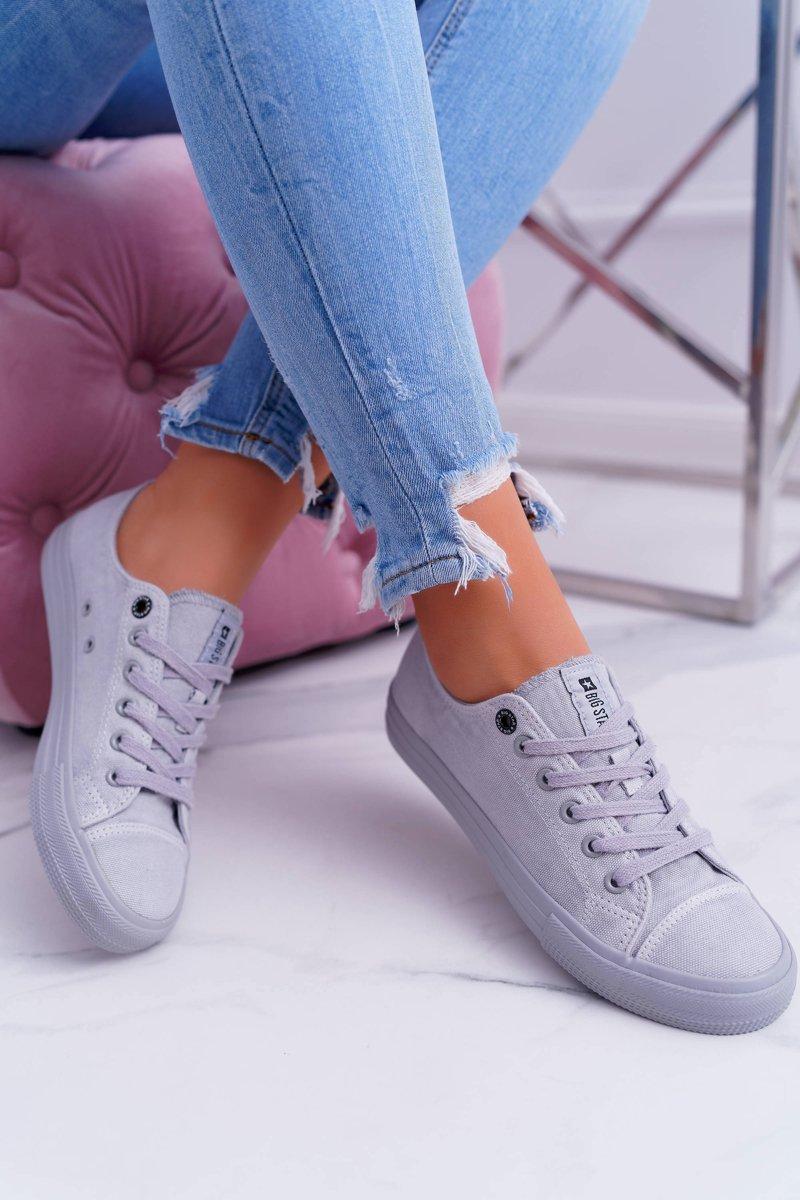Pohodlné dámske tenisky v sivo-striebornej farbe - 41