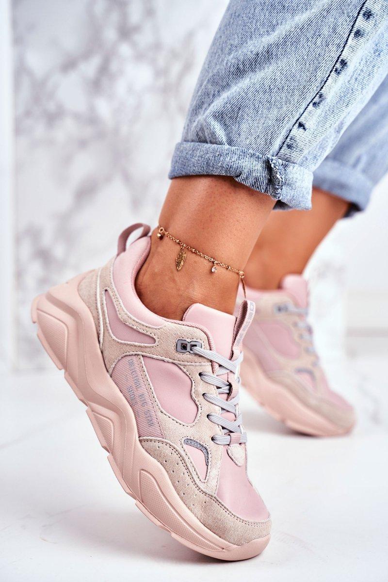 Dámske ružovo-béžové tenisky - 36