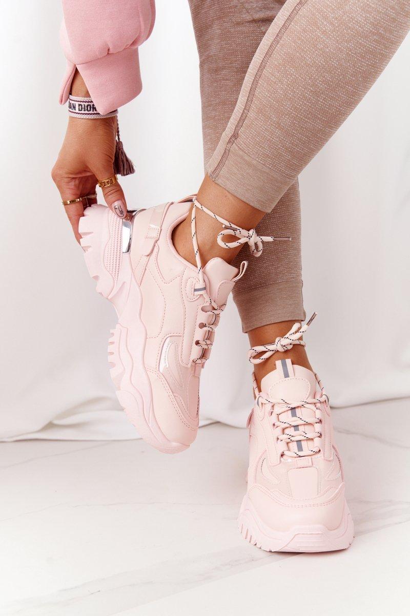 Ružové tenisky na hrubej podrážke - 40