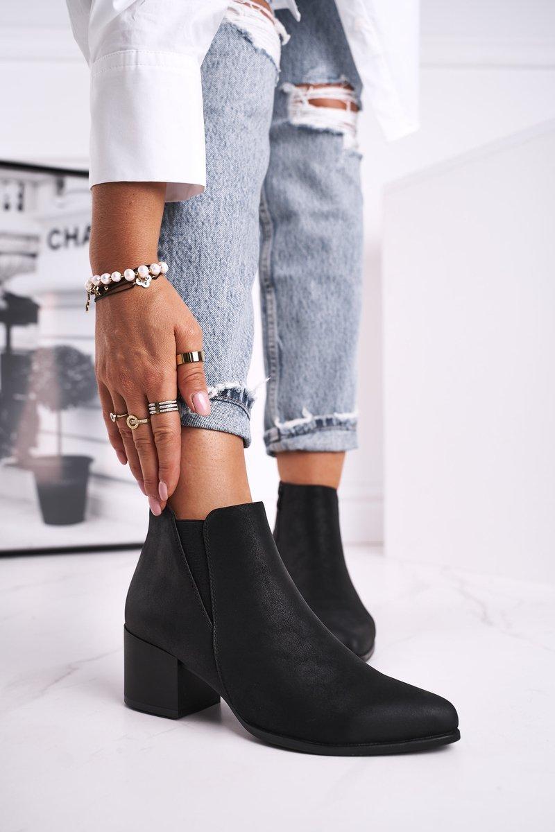 Dámske čierne zateplené topánky - 36