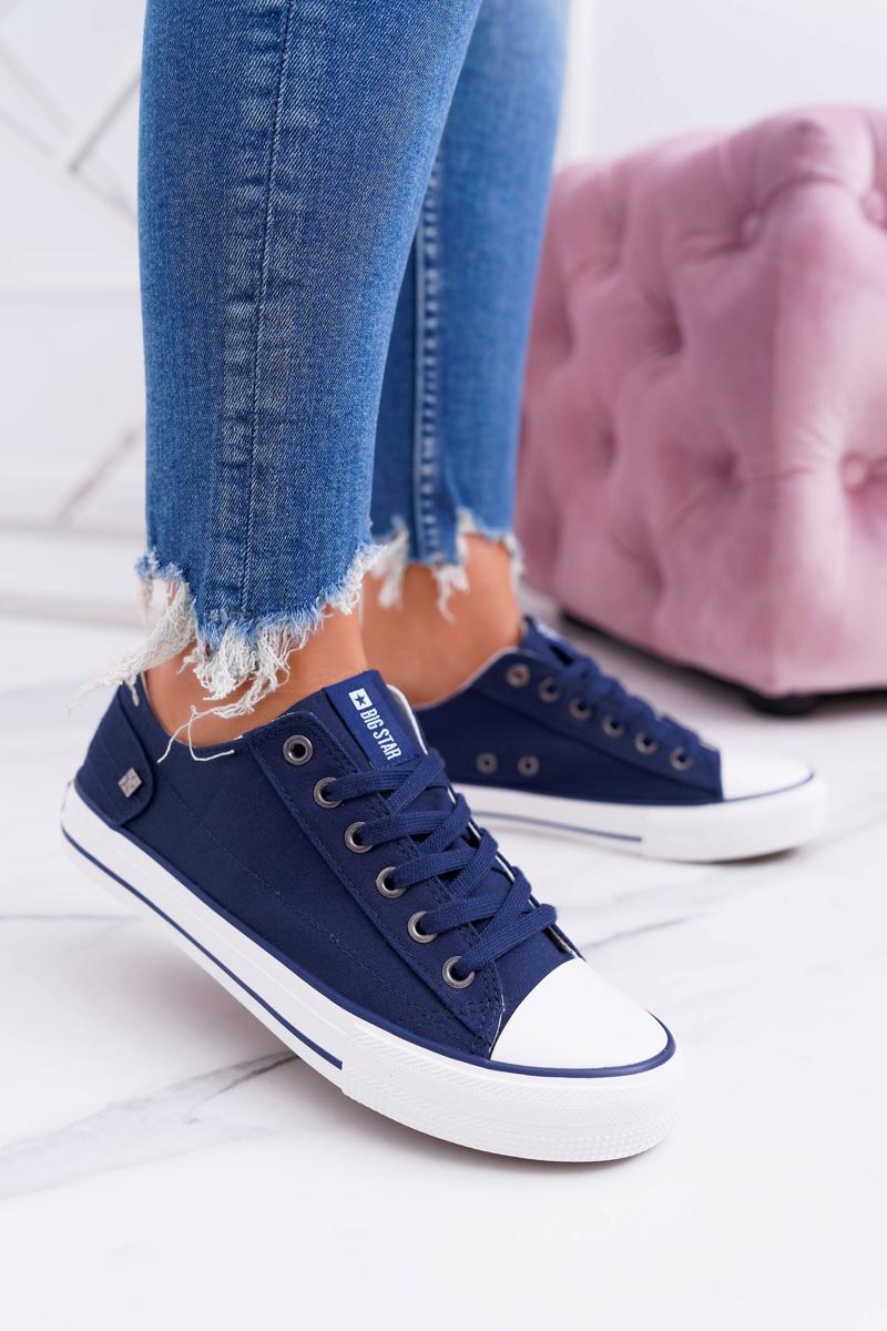Klasické dámske tenisky v modrej farbe - 40
