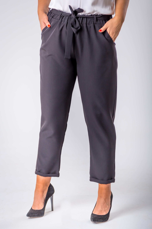 Čierne dámske elegantné nohavice - 3XL