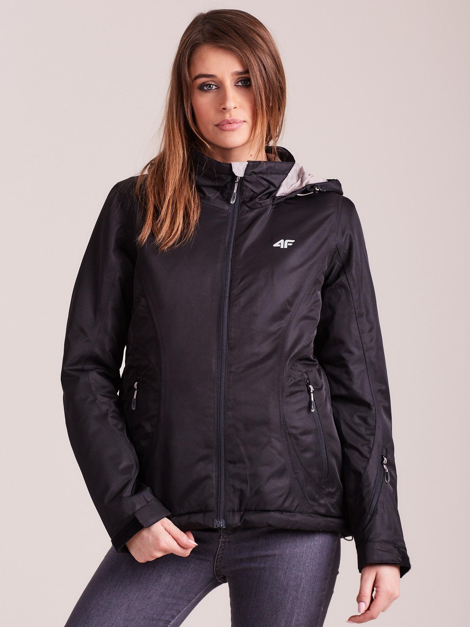 Dámska čierna lyžiarska bunda - XS