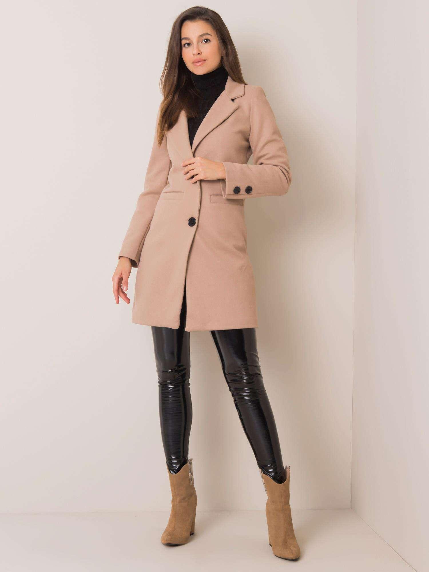 Dámsky béžový kabát - S