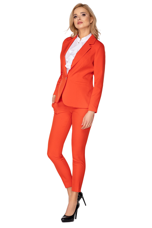 Oranžové dámske krátke sako - 36
