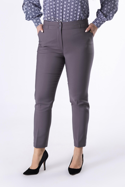 Dámske šedé elegantné nohavice - 34