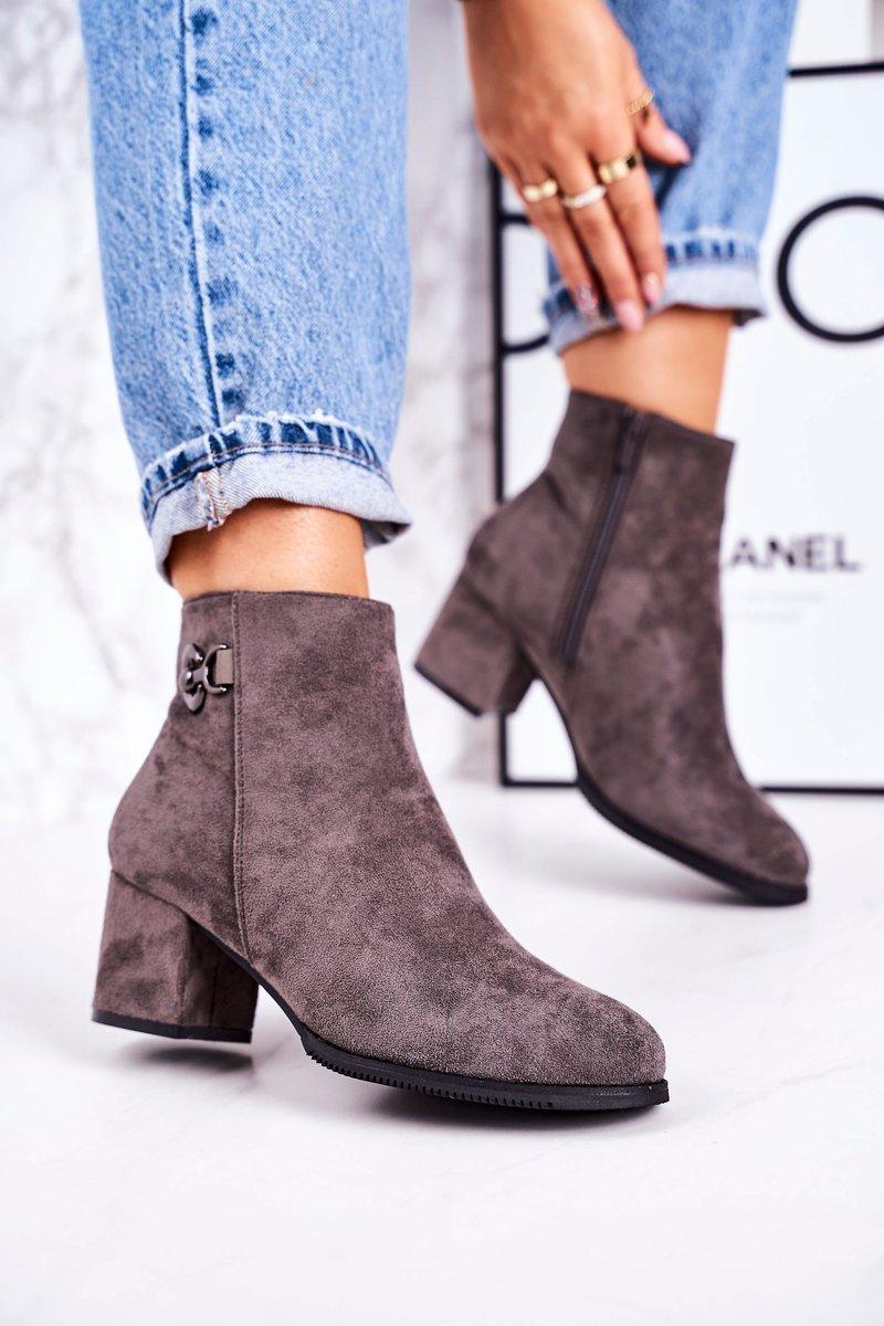 Dámske sivé zateplené topánky - 41