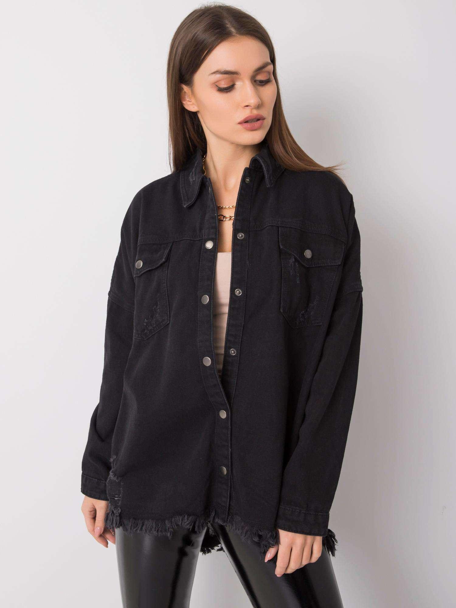 Čierna riflová košeľa - 36