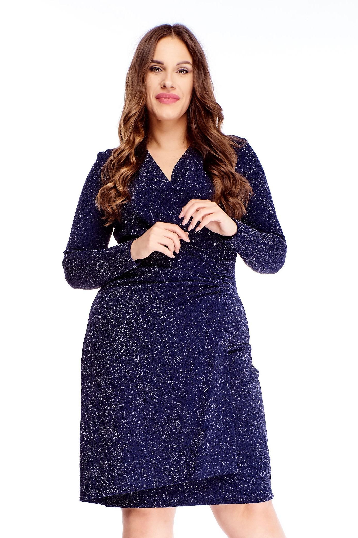 Krátke modré šaty