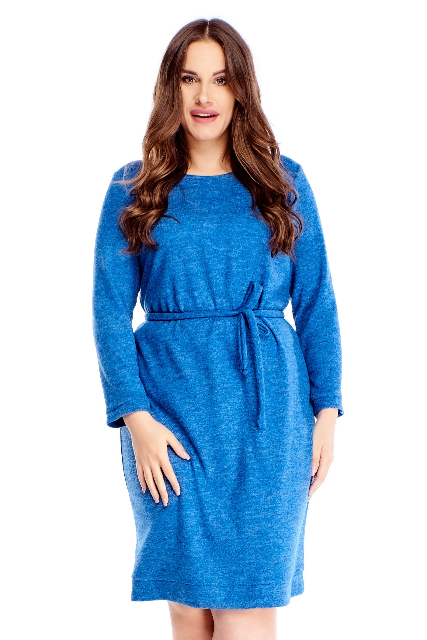 Krátke modré šaty - 40
