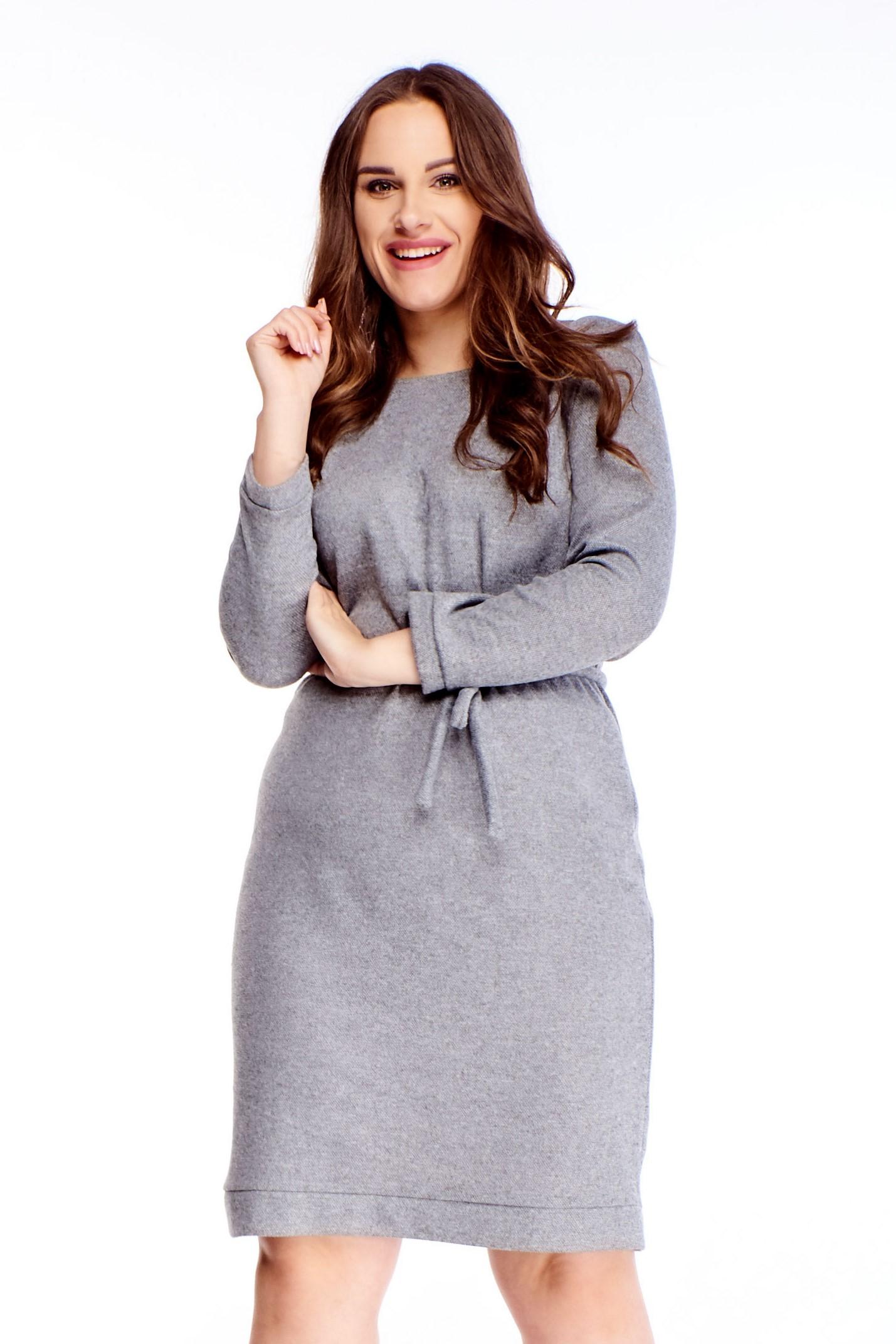 Krátke šedé šaty - 44
