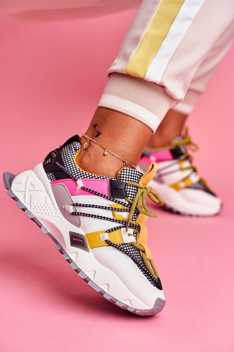 Športové viacfarebné topánky na šnurovanie - 39