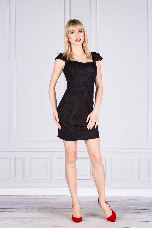 Elegantné krátke čierne šaty - S