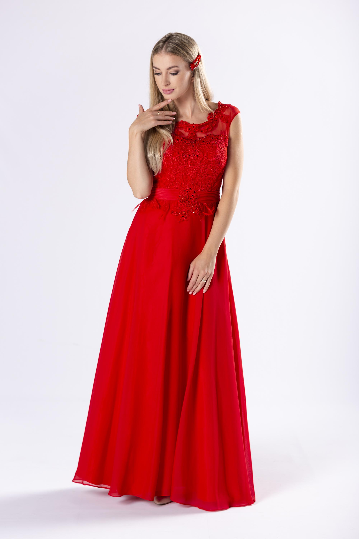 Červené spoločenské šaty - 36