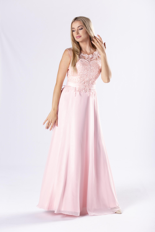 Ružové spoločenské šaty - 36