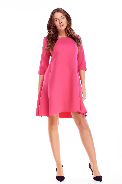 Áčkové krátke šaty ružové - 44