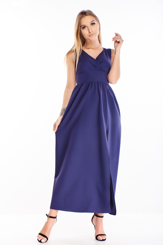 Plesové šaty v námorníckej modrej farbe - 44