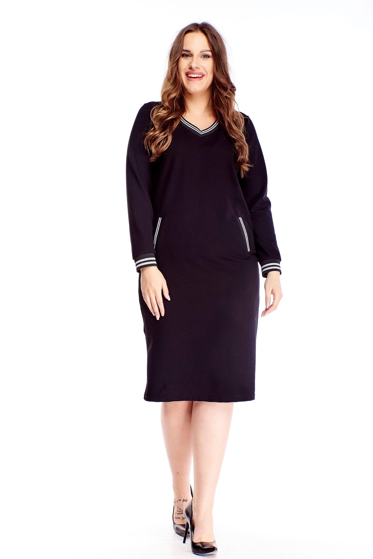 Čierne krátke šaty - 44