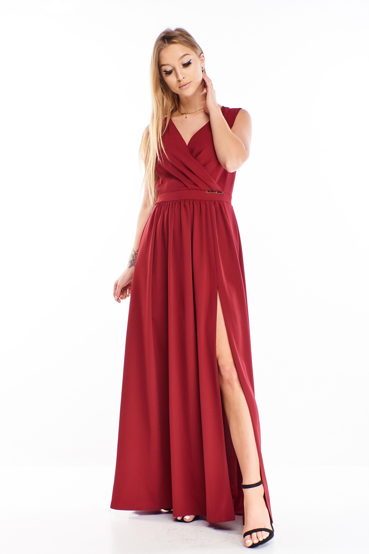 Gaštanové plesové šaty - 44