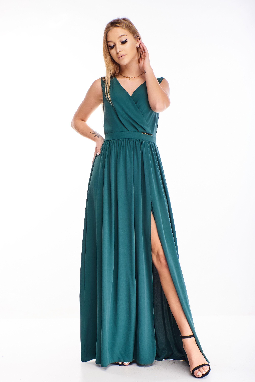 Zelené plesové šaty - 44