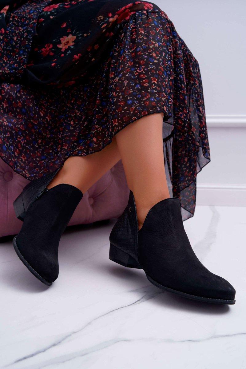 Dámske čierne kožené topánky - 41