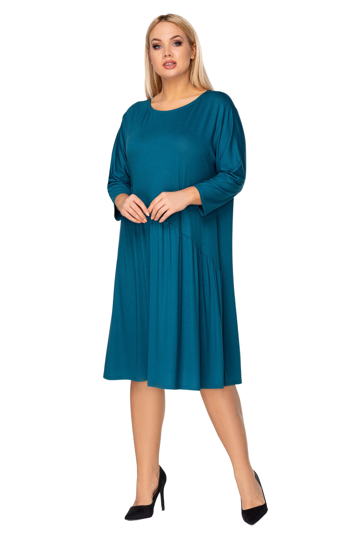 Nadrozmerné šaty s viazaním na chrbte zelené - XXL