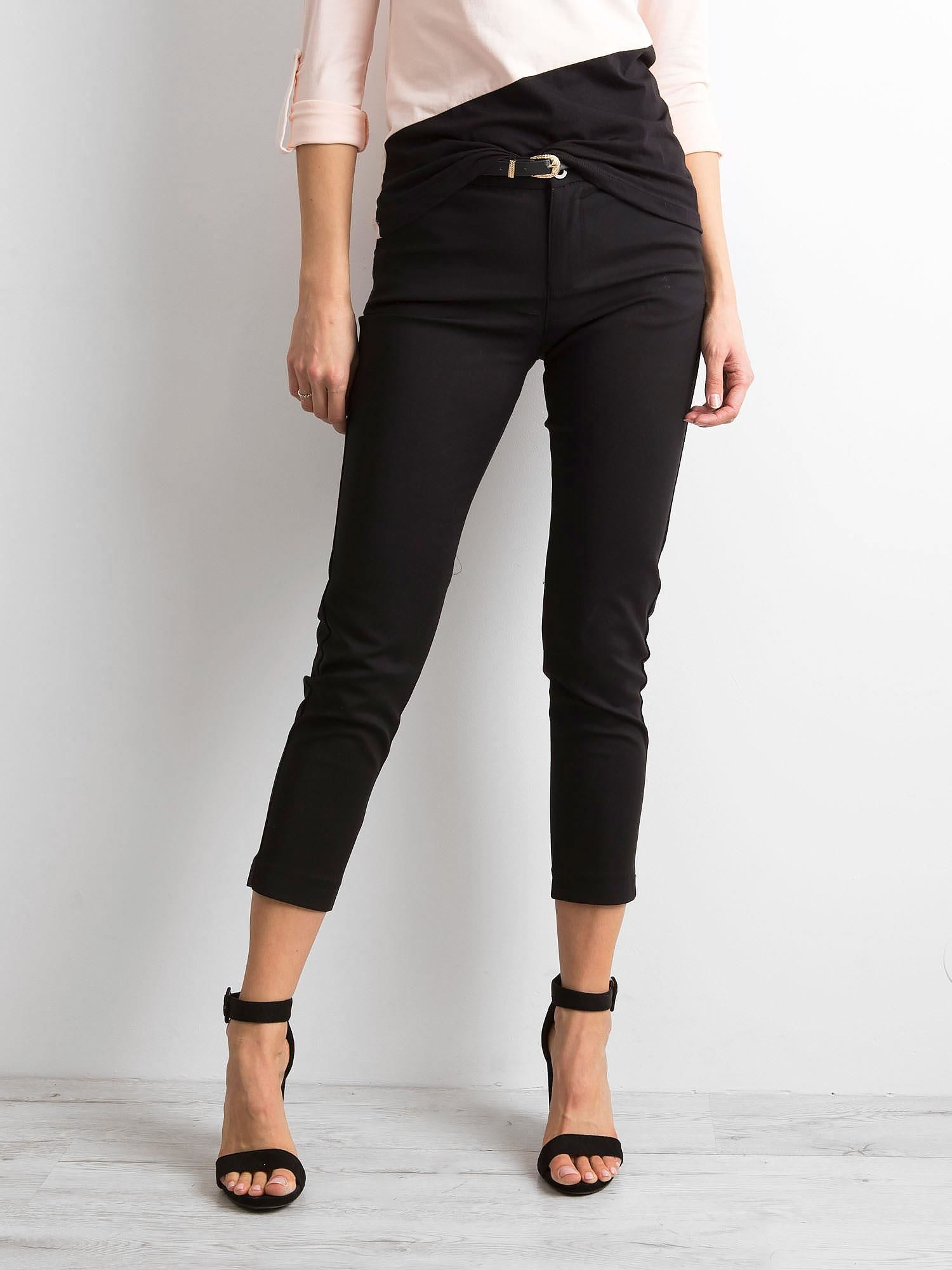 Čierne 7/8 elegantné nohavice - XL