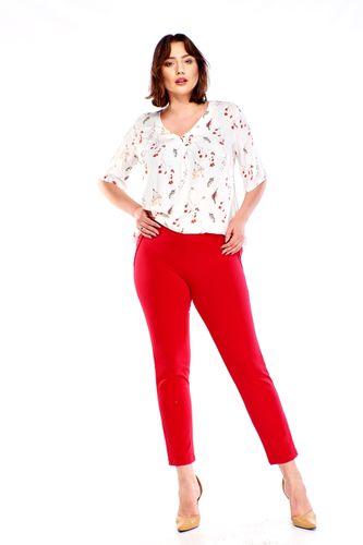 Bavlnené červené nohavice s elastickým pásom