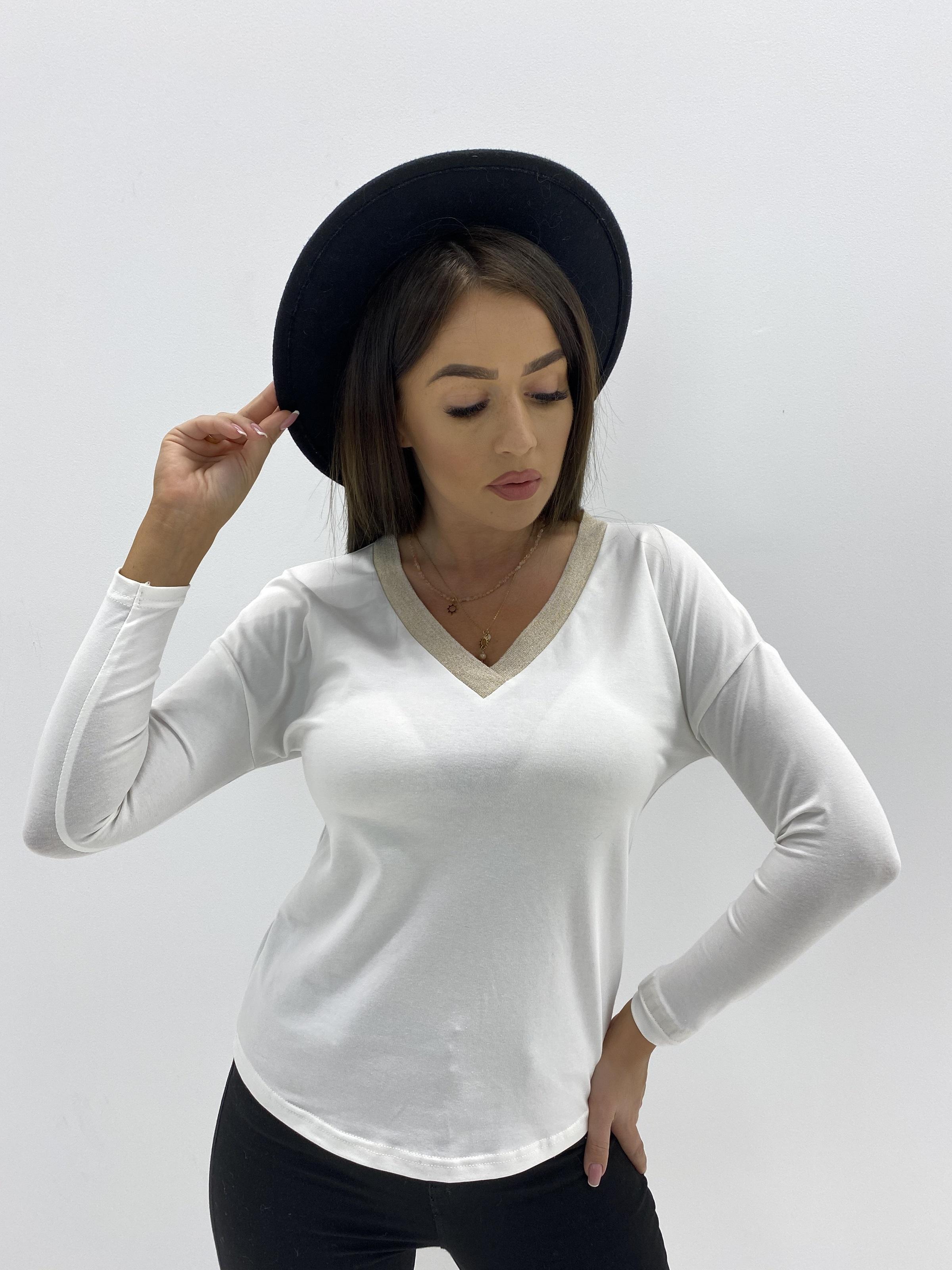 Biele tričko s dlhým rukávom - S/M
