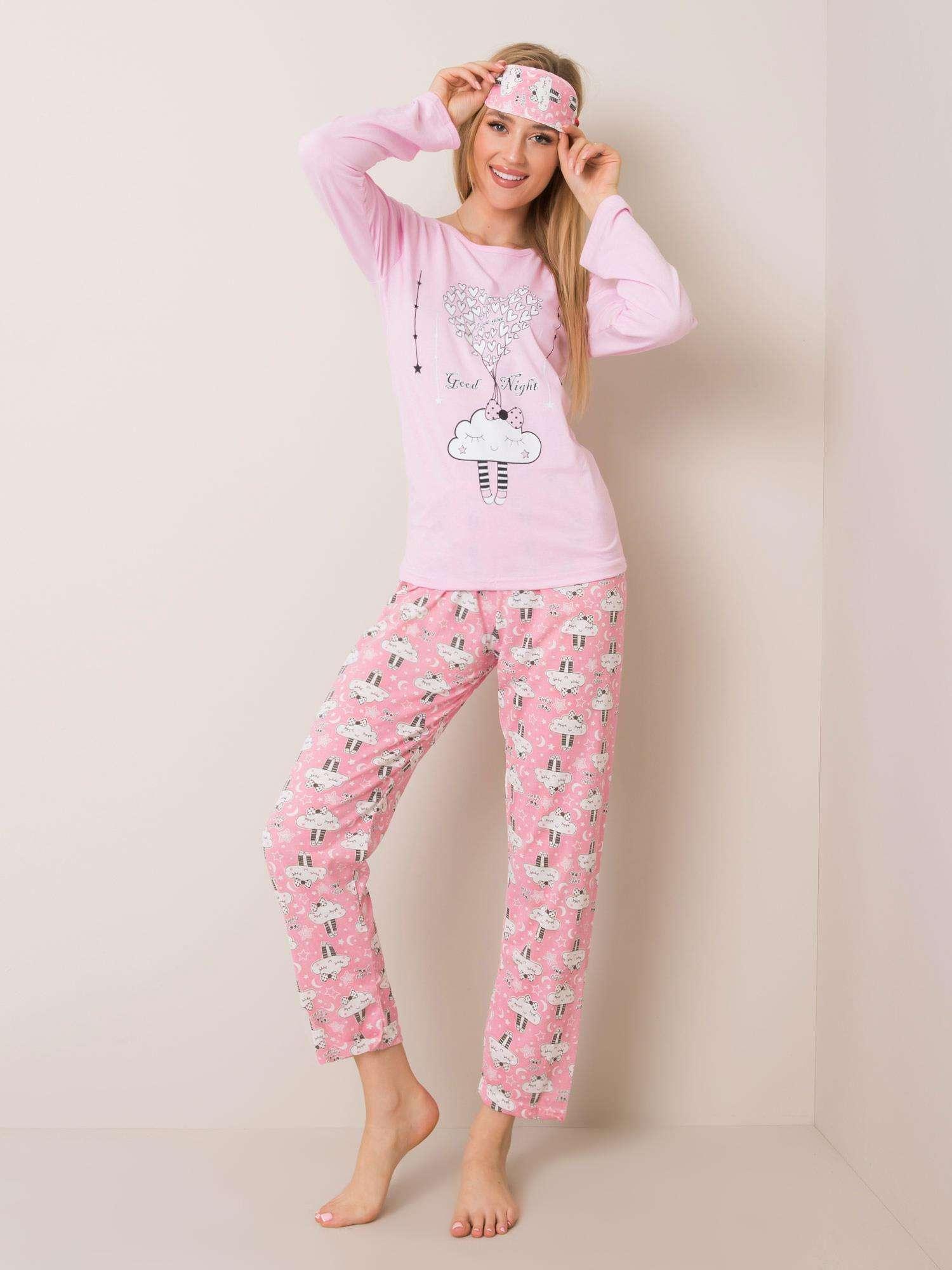 Svetloružové dámske pyžamo - M
