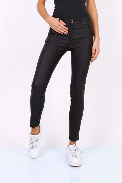 Dámske čierne elastické nohavice