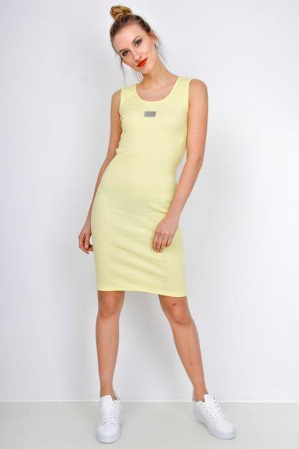 abfbe484c Dámske žlté krátke šaty bez rukávov - ROUZIT.SK
