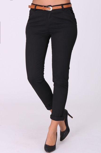0401fe83a7f4 Elegantné čierne dámske nohavice s opaskom zväčšiť obrázok. Dámske športovo- elegantné ...