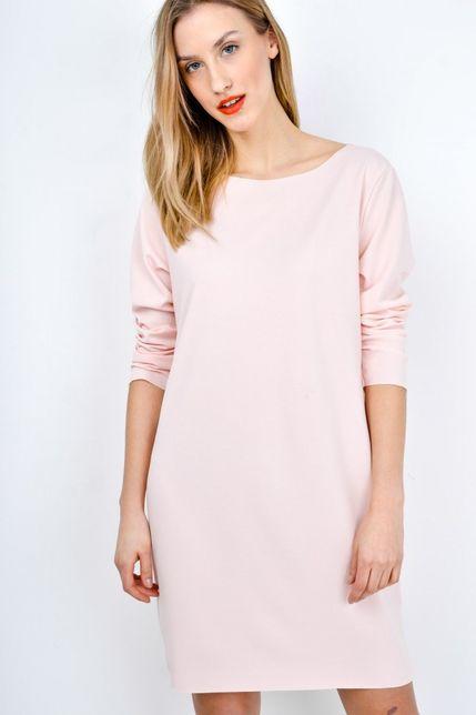1800a70abaa9 Krátke ružové šaty s dlhým rukávom zväčšiť obrázok