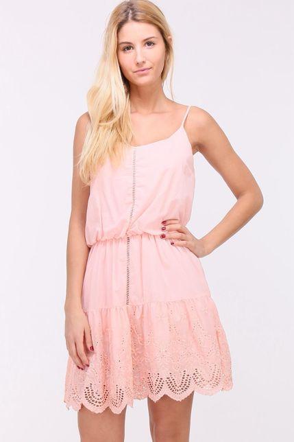 d68e1fa6d1d7 Krátke letné ružové šaty na ramienkach - ROUZIT.SK