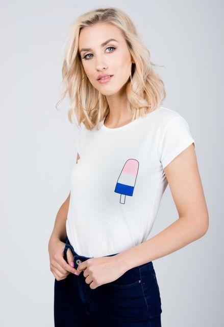 6edfbdf00af9 Klasické biele dámske tričko s krátkym rukávom - ROUZIT.SK