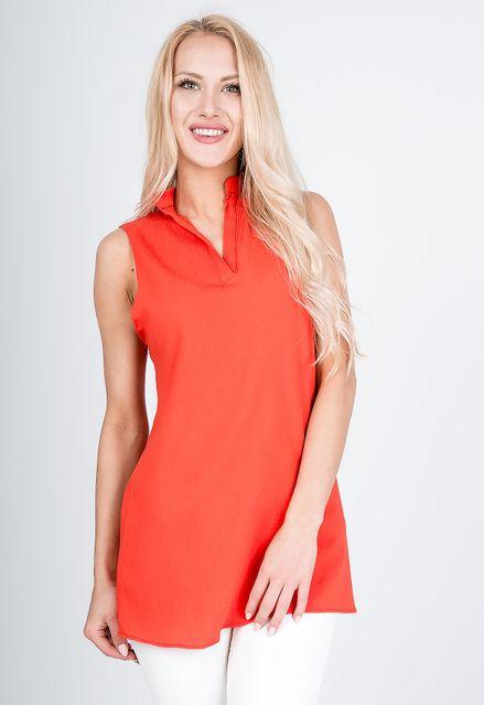 Letná oranžová blúzka bez rukávov
