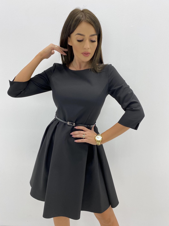 Čierne spoločenské šaty - 36