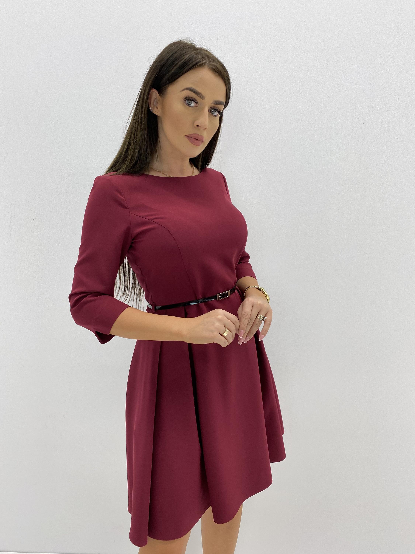 Gaštanové spoločenské šaty - 36