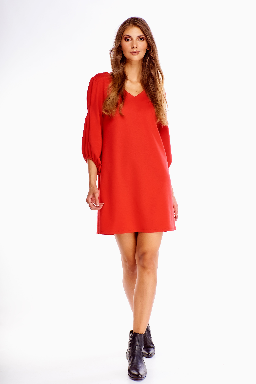 Elegantné oversize šaty červené - L